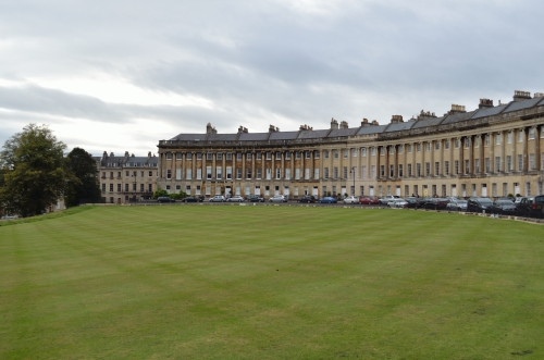 Bath's Royal Crescent - fashionable Georgian condos.