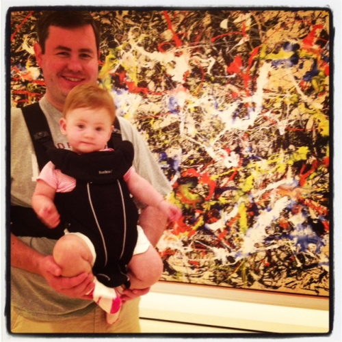 Some indoor fun was had, too.  We visited this gigantic Jackson Pollack at the Albright Knox Art Gallery.